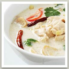 Soupe de poulet au coco (แกงข่าไก่– Kèng Kha Kaï)
