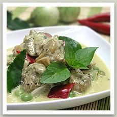 Poulet au curry vert ( แกงเขียวหวานไก่ - Kèng Kiao Waan Kai)