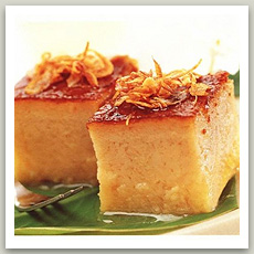 Flan thaï au taro (ขนมหม้อแกง - Khanom Mo Kaeng)