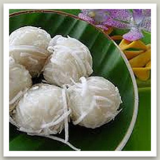 Perle de coco (ขนมต้ม - Khanom Tom)