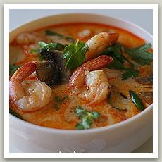 Soupe épicée aux crevettes (ต้มยำกุ้ง- Tom Yam Koung)