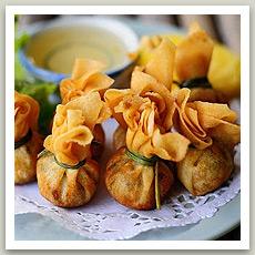 Aumônières aux crevettes ( ถุงทอง - Toung Thong)